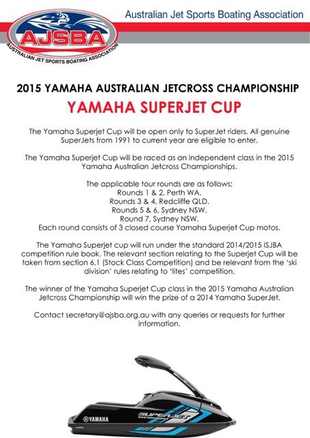 Yamaha SuperJet Cup Annoucement