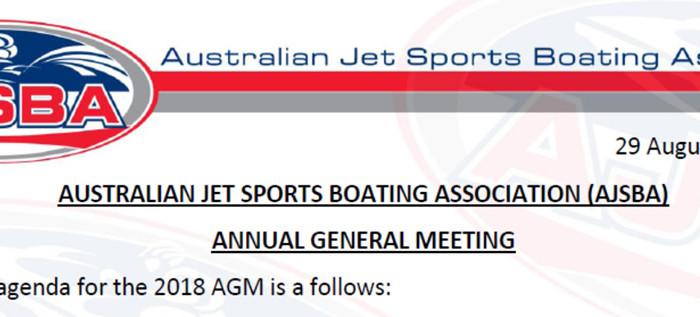 2018 AGM Agenda update