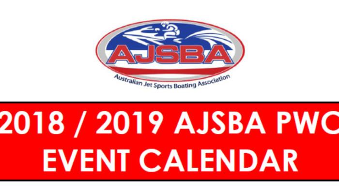 2018/2019 AJSBA PWC Event Calendar